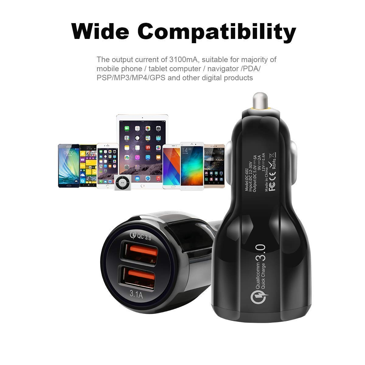 Ltd Dual USB Shenzhen Longtrans Chan Technology Co Car Charger