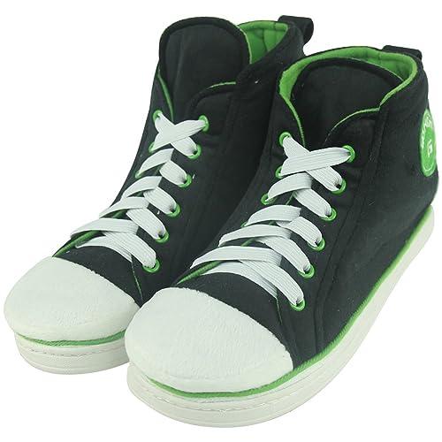 90265343415 Gohom Men s Fashion Winter Household Slipper Boots Sneaker Black Green UK  ...