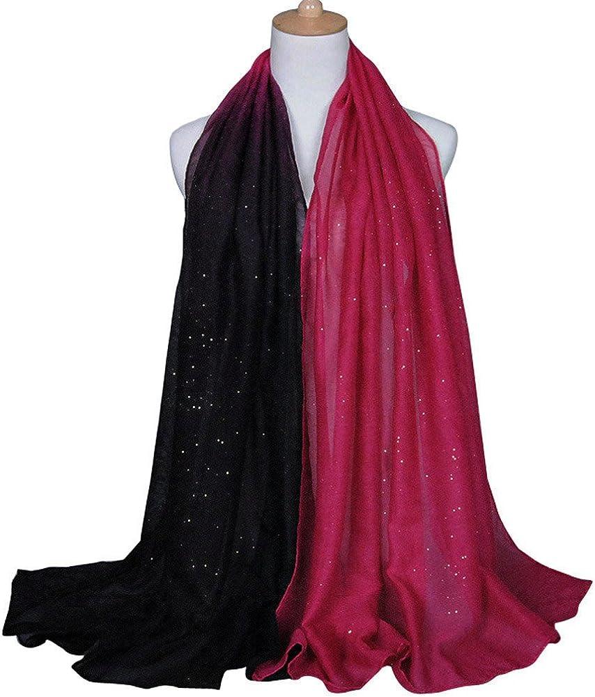 DAMILY Foulard Femmes Gradient Soir/ée Ch/âle Echarpes 180 90cm