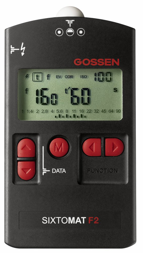 Gossen GO H264A Sixtomat F2 Light Meter f/Flash, Ambient, Cine and Reflective Metering (Black)
