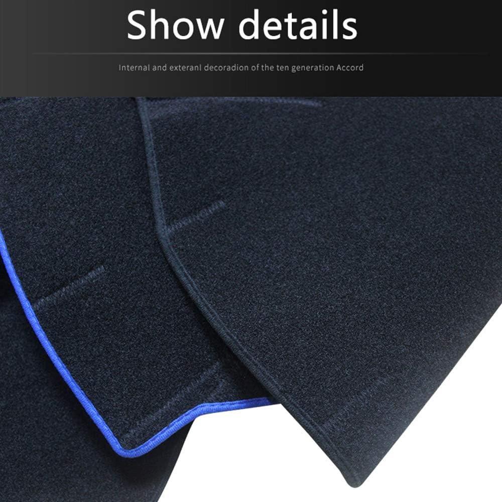 Alfombra Antideslizante Dash Mat Dashmats Cubiertas,Azul GPPSUN Cubierta del Tablero Tablero de Instrumentos Apto para Ni-ssan Qashqai J11 2014 2015 2016 2017 2018 2019 LHD