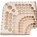 MagiDeal Wooden Storage Rack Stand 75 Holds Acrylic Paint Bottle Model Hobby Parts Painting Brush Tidy Holder #125
