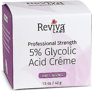 Reviva Labs 5% Glycolic Acid Cream, 1.5 oz.