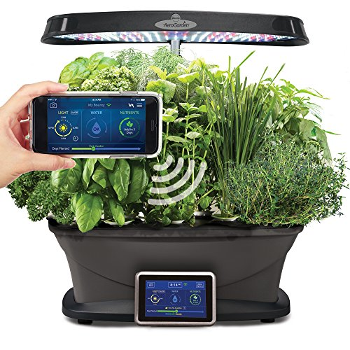 AeroGarden Bounty Wi-Fi with Gourmet Herb Seed Pod Kit by AeroGrow