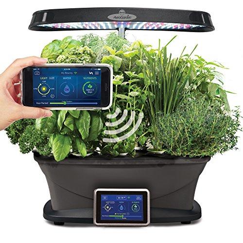 AeroGarden Bounty Wi-Fi with Gourmet Herb Seed Pod -