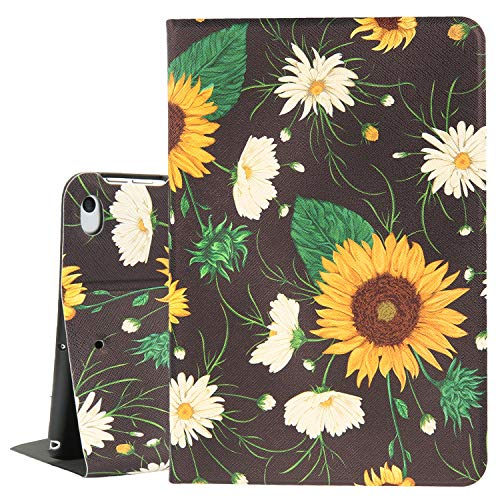 Sunflower iPad Mini Case 4/5, Daisy Flower 7.9 Inch Folio Stand iPad Cover, Ultral Slim Protective Smart Tablet Case for iPad Mini 4th Gen and iPad Mini 5th Gen 2019 with Auto Sleep/Wake Function (Mini Case Tablet For Ipad)