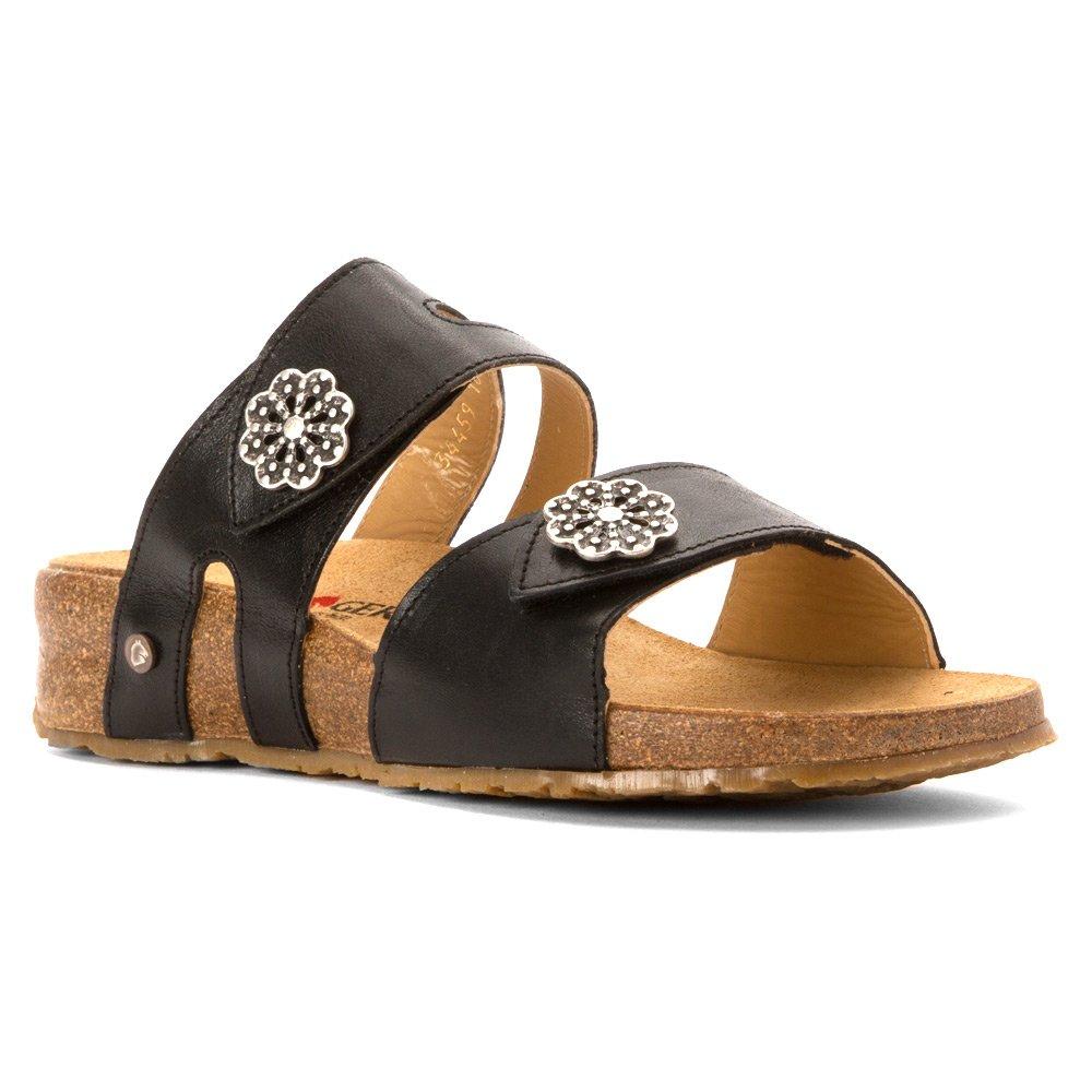 Haflinger Women's Pansy Sandal Black (39)
