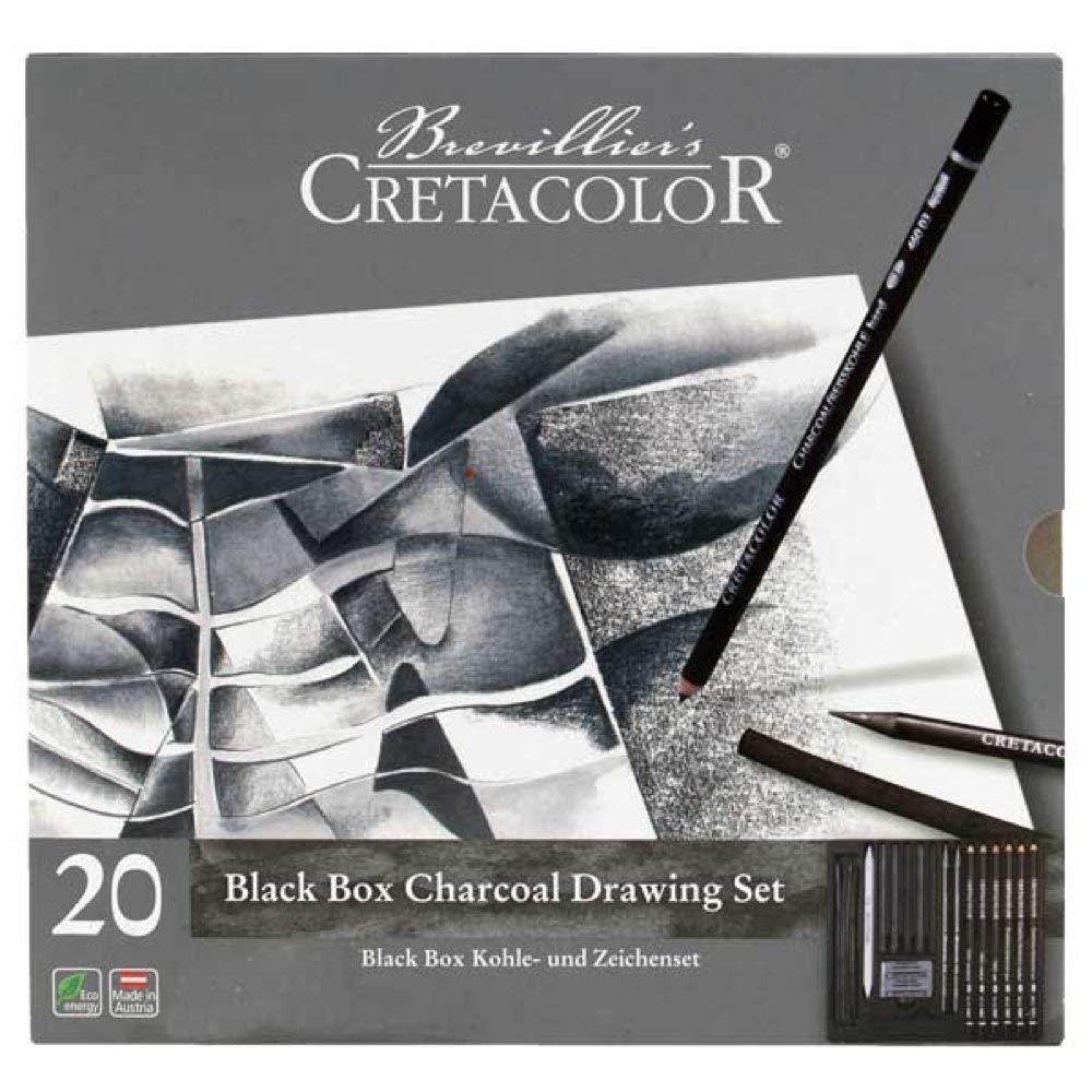 Cretacolor Black Box Charcoal Tin Set