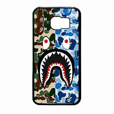 size 40 3351a aa751 Bape Shark 2 Case Device Samsung Galaxy S7 Edge: Amazon.co.uk ...