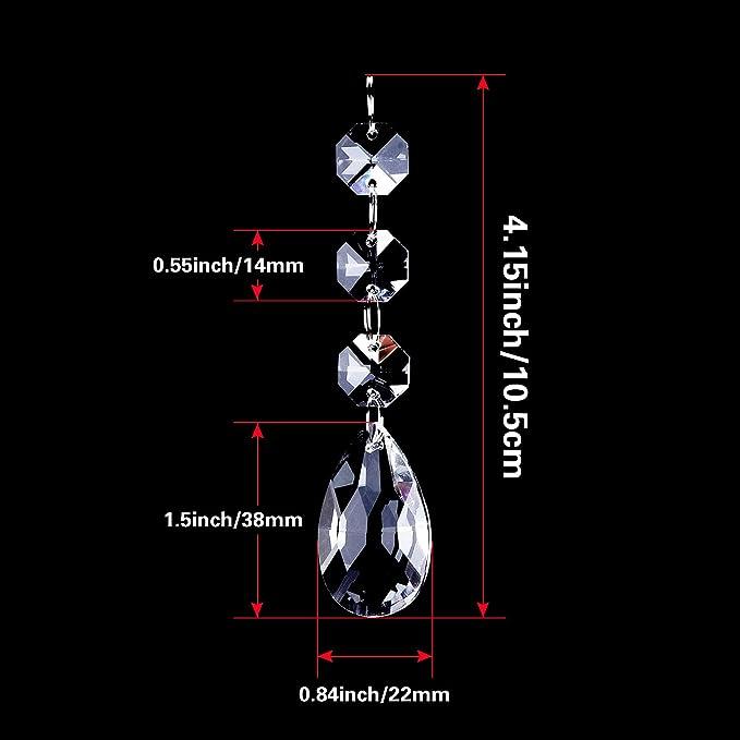 Amazon.com: outus Clear Crystal Colgantes Teardrop ...