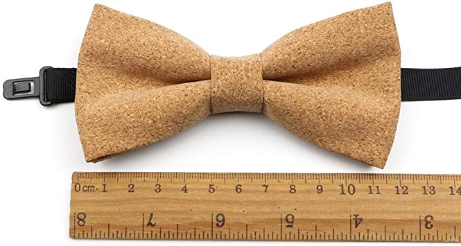 Piero Fashion Cork Wood Men Bow Ties Handmade Solid Bowtie Butterfly Wedding Party Man Gift Neckwear,Adult 1