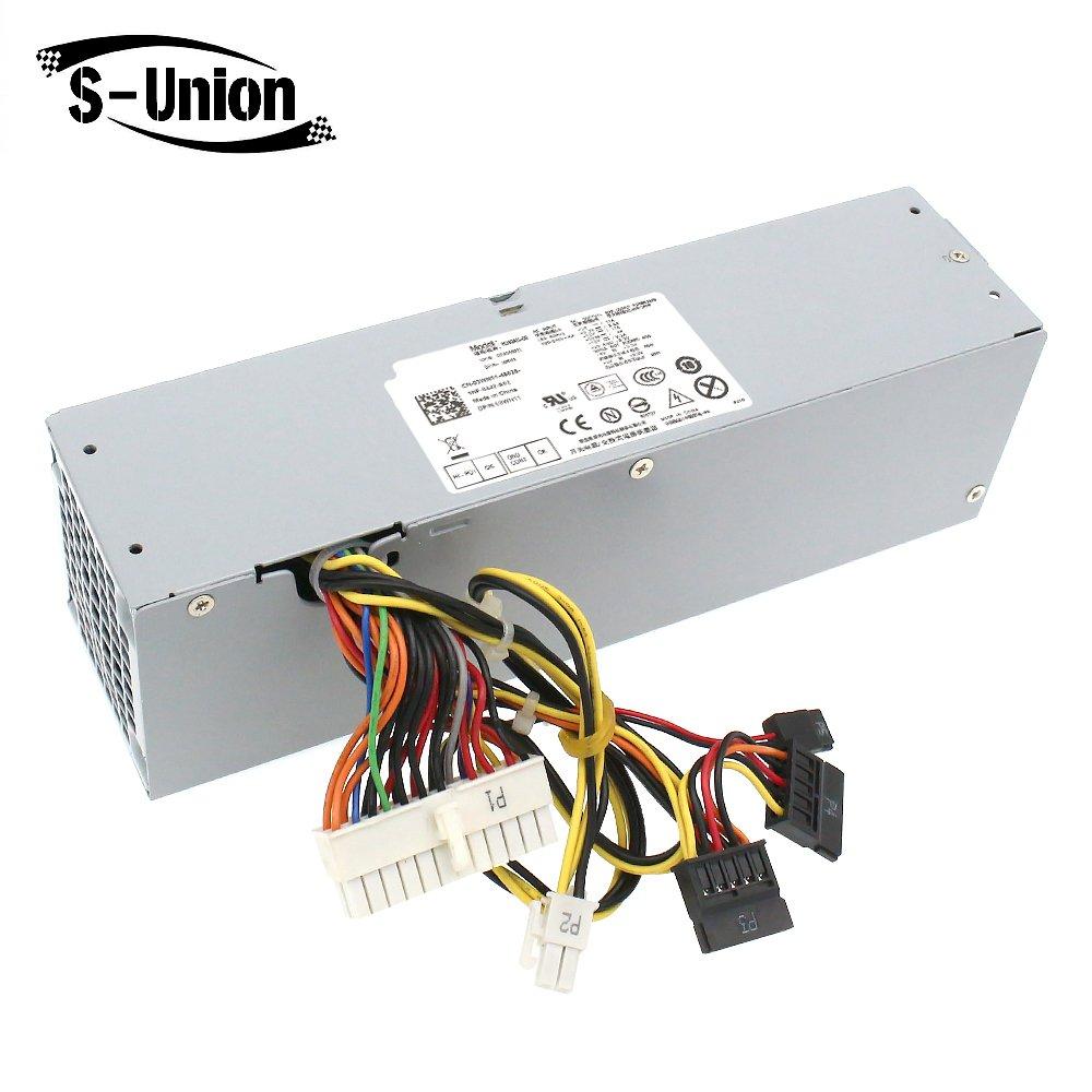 S-Union 240W Power Supply Unit PSU for Dell OptiPlex 390 790 960 990 3010 9010 Small Form Factor System SFF H240AS-00 H240ES-00 D240ES-00 AC240AS-00 AC240ES-00 L240AS-00 3WN11 PH3C2 2TXYM 709MT J50TW