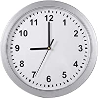 Modern Wall Clock, with 3 Inside Layer, Durable ABS Material, Sliver Color, Multifunction Home Safe Container Box, for…