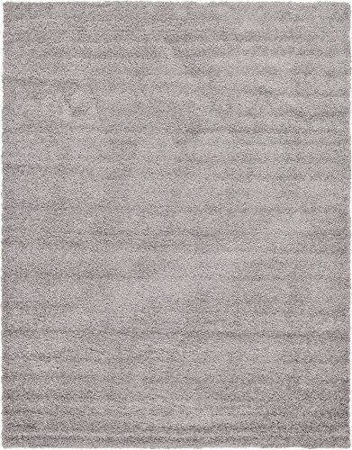 A2Z Rug Cozy Shaggy Collection 10x13 Feet Solid Area Rug   Cloud Gray