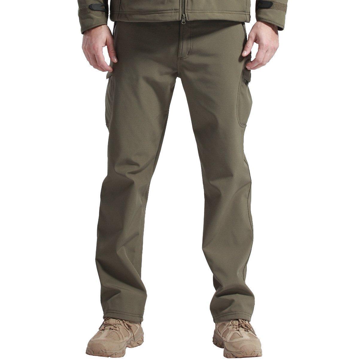 8d8c705485b20 Amazon.com : FREE SOLDIER Men's Outdoor Water Repellent Windproof Softshell  Fleece Lined Cargo Snow Hiking Pants : Clothing