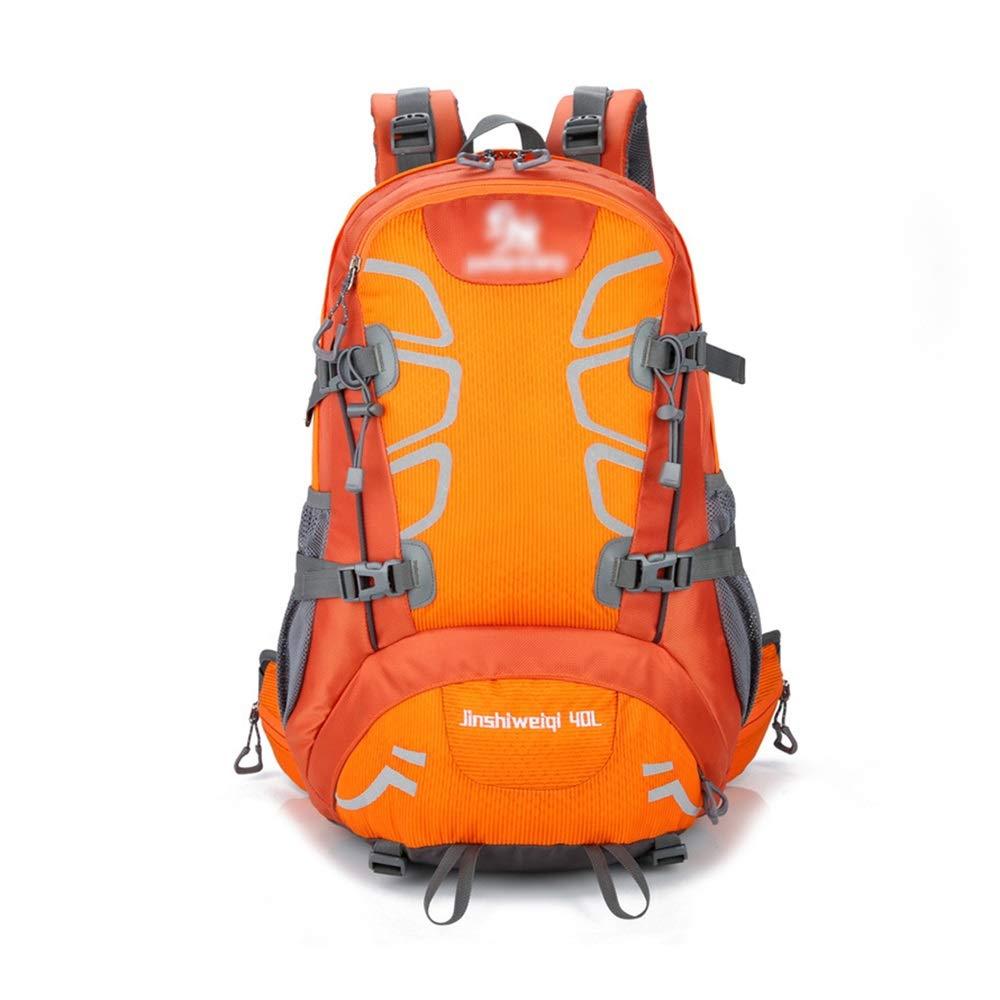 Orange Taille unique Sac à Dos d'alpinisme en Plein air Sac à Dos Sac à Dos 40L Sport Imperméable pour Randonnée Camping Escalade Alpinisme Camping Pêche Voyage Cyclisme Ski (Couleur   Vert, Taille   Taille Unique)