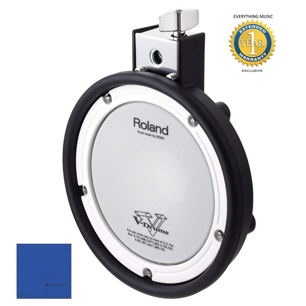 Roland PDX-6 V-Pad Snare 8'' Mesh Snare Pad for Roland V-Tour Series with 1 Year Free Extended Warranty by Roland