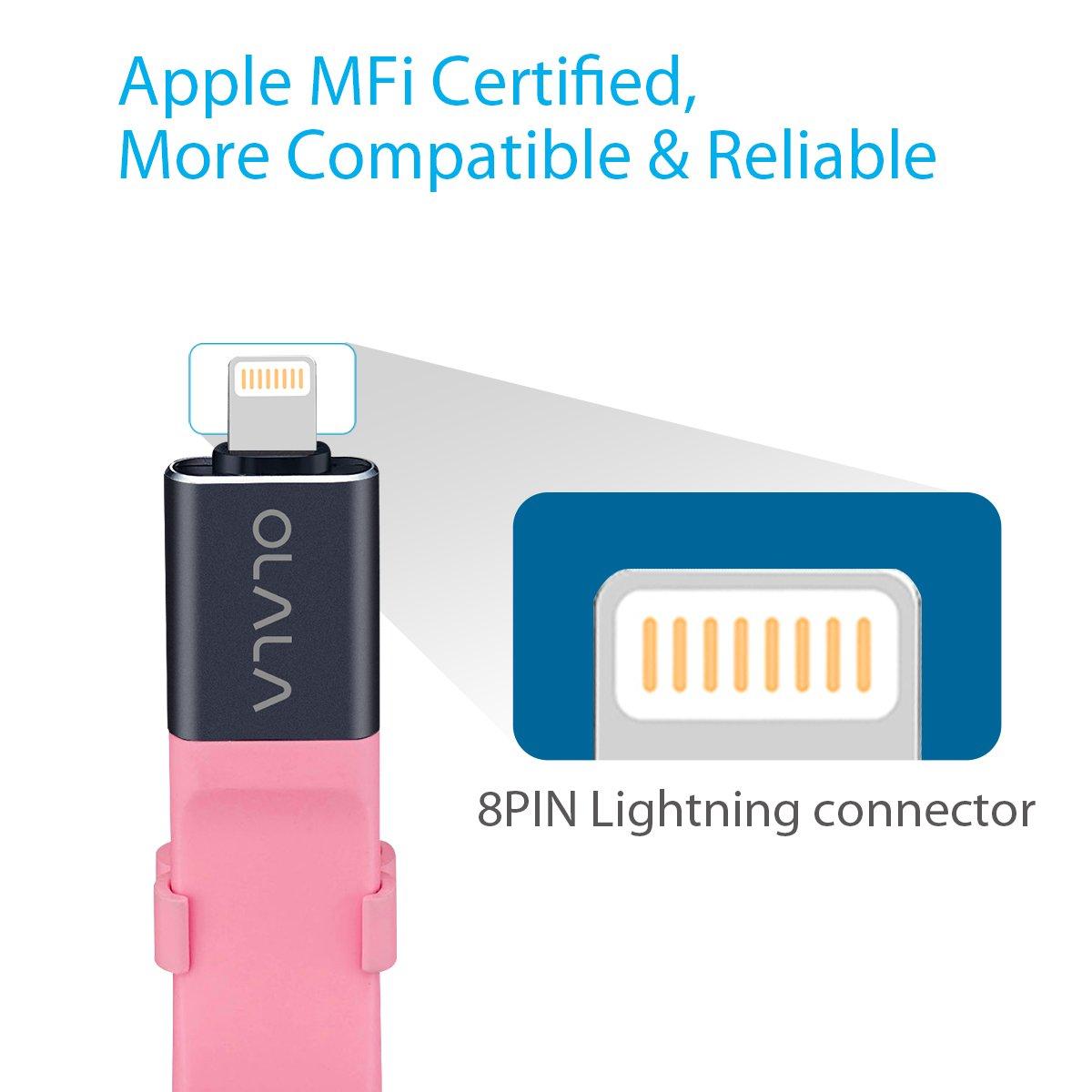 Apple MFI Certified Silver iPhone Lightning Flash Drive OLALA 32GB USB 3.0 Memory Stick Thumb Pen Drive Jump Drive IOS External Storage Expansion for iPhone iPad Mac iOS PC Laptops