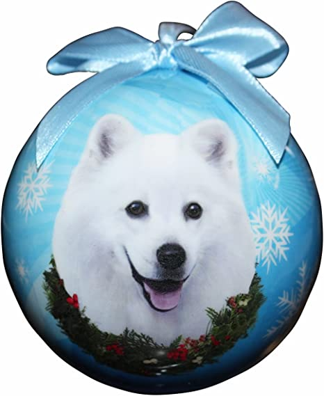 Amazon Com American Eskimo Christmas Ornament Shatter Proof Ball Easy To Personalize A Perfect Gift For American Eskimo Lovers Pet Supplies