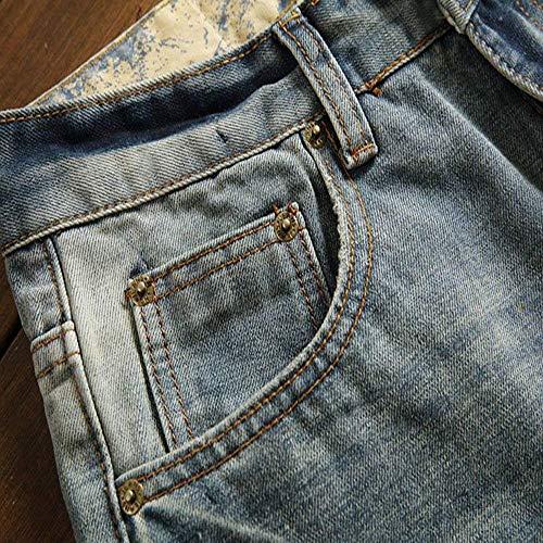 Taglie Slim Uomo Abiti Comode Da Jeans Moda Cotone Blau Strappati Casual Pantaloni Morbido Ssig Fit xfqSwHX