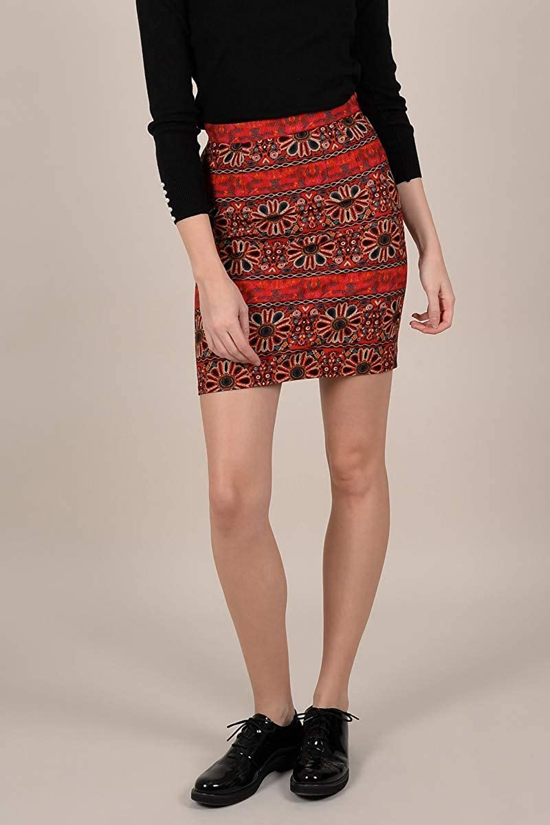 Molly Brazken - Mini Falda Moldeada Rojo M: Amazon.es: Ropa y ...
