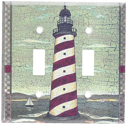 Lighthouse Light Switch Covers - Art Plates - Cape Lighthouse Switch Plate - Double Toggle