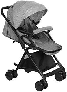 Shisky Strollers & Buggies Baby Carriage,Baby Stroller can be Reclining Lightweight Folding Trolley Two-Way Suspension Baby Trolley