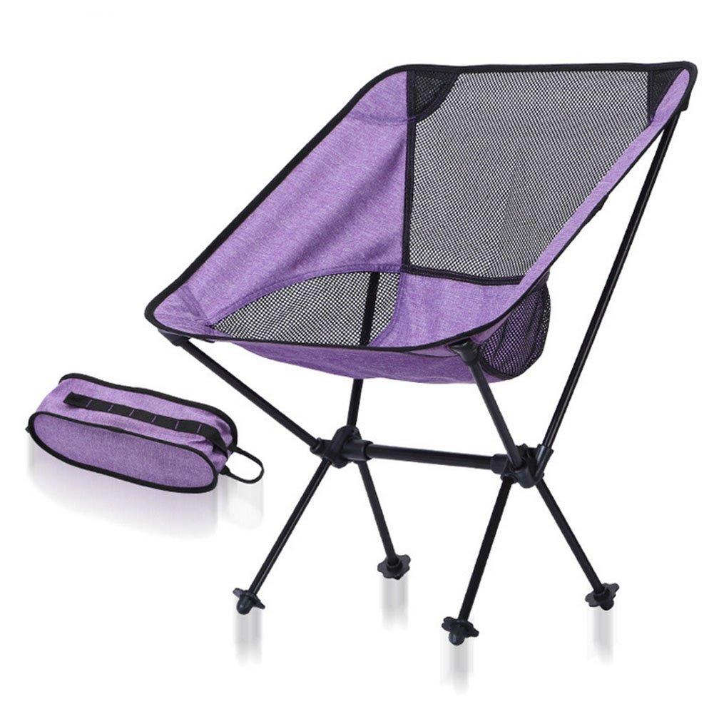 SamuroMüller Outdoor Klappstuhl Camping Portable Luftfahrt Aluminiumlegierung Angeln Stuhl Licht Mond Stuhl