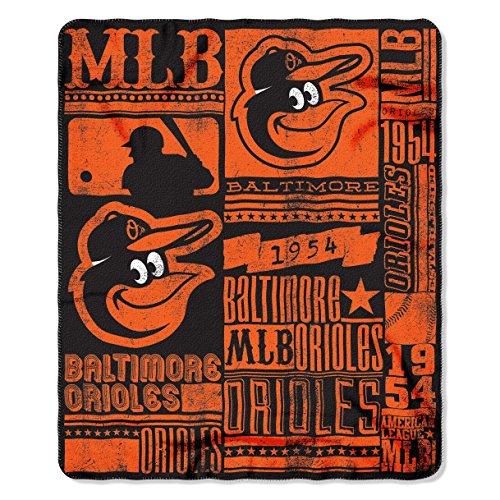 Baltimore Orioles Strength Fleece Throw Blanket ()