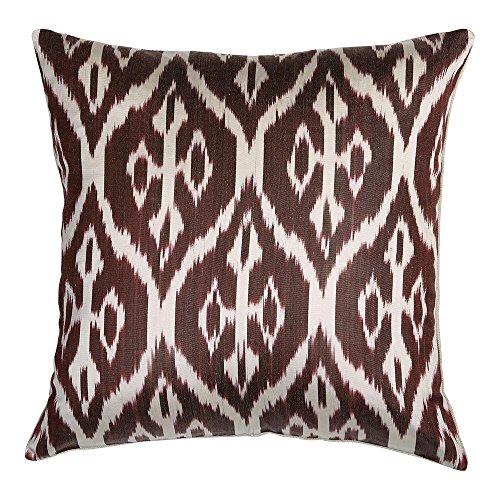 - Ethan Allen Silk Ikat Pillow, Smoky Rose