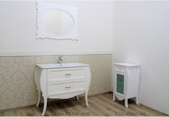 Mobili Da Bagno Como.Le Chic Arredamenti Mobile Bagno Como Contemporaneo Bianco