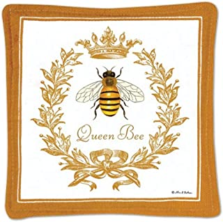 product image for Alices Cottage Boxed Mug Mats, Queen Bee, 5x5 Inch