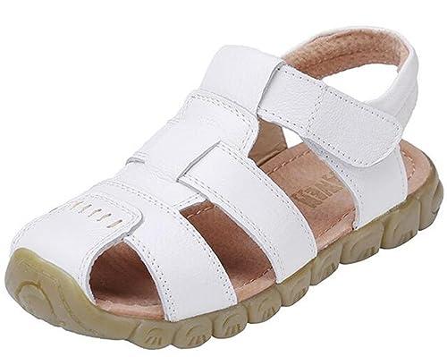 meilleur pas cher 931ac 9a8ff DADAWEN Mixte Enfant Leather Oxford Sandale(Garçon/Fille/Bébé)