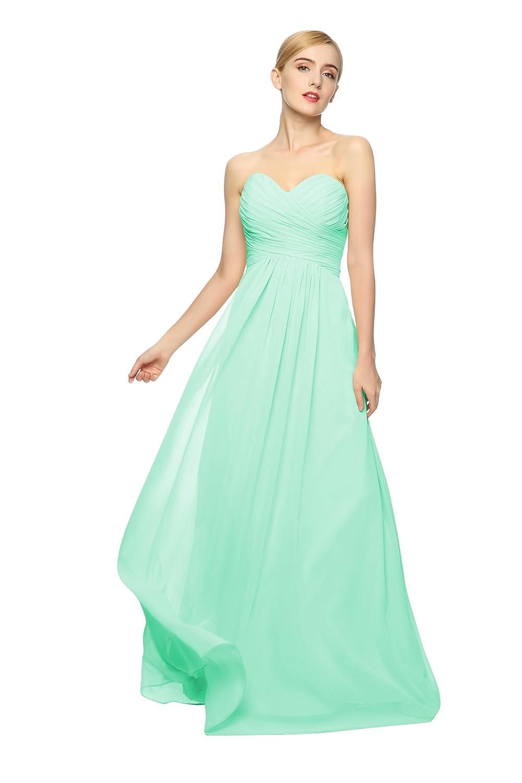 Junai Women's Floor Length Sleeveless Formal Dress Mint Green US 24