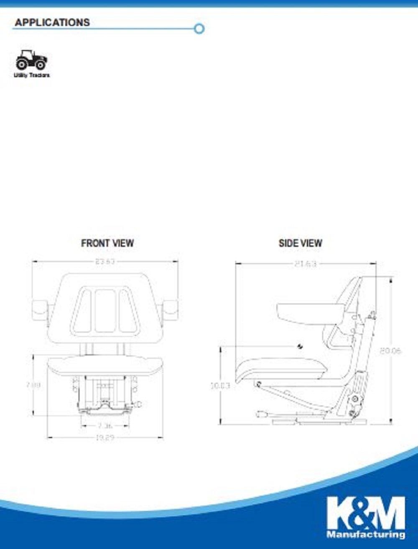 Km 256 Uni Pro Seat And Suspension Mini Excavators Cub Cadet 1315 Wiring Diagram Caterpillar Versatile Komatsu Industrial Scientific