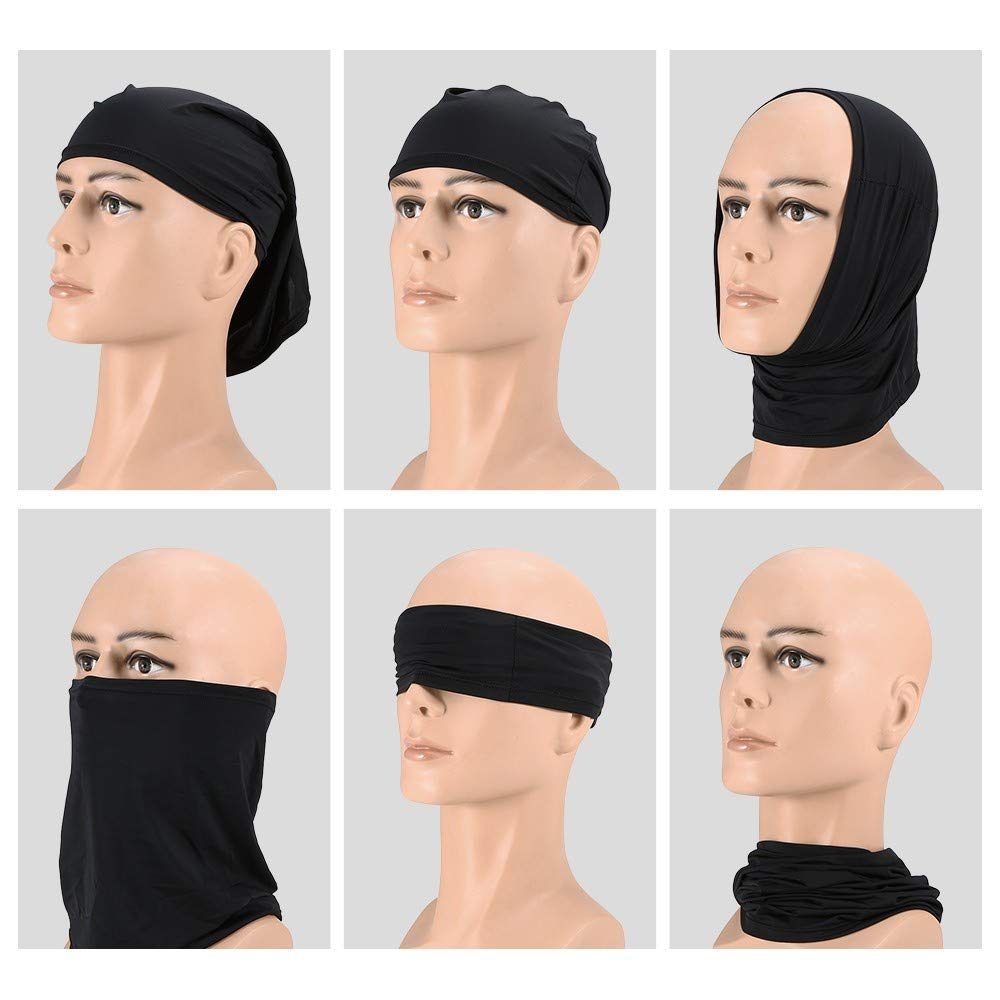 Hiking Neck Balaclava and Sport Scarf 4 in 1 Sweatband for Fishing 4 Pieces Summer Face Mask UV Protection Neck Gaiter Scarf Sunscreen Breathable Bandana Mask Running