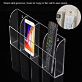 TV Remote Control Holder Wall Mount Acrylic Clear