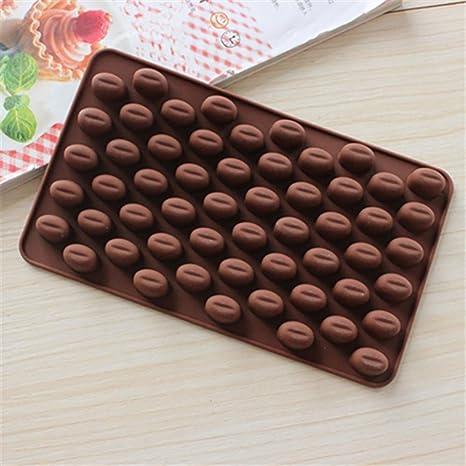 igemy granos de café Chocolate Candy moldes de silicona molde para tartas de cera se derrite