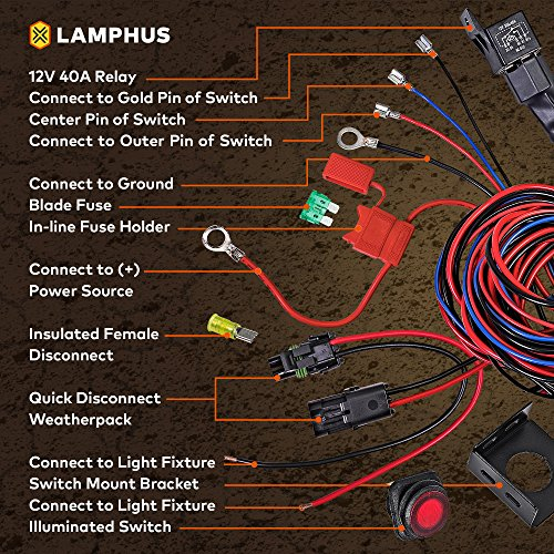 61pFZ%2Bruy8L lamphus 17' off road atv jeep led light bar wiring harness kit Wiring Harness Diagram at creativeand.co