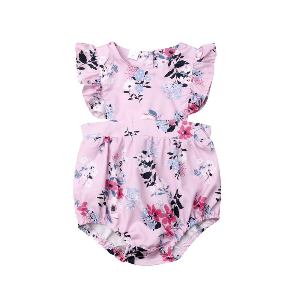 Wang-RX Niños recién Nacidos Ropa para niñas bebés Ruffles ...