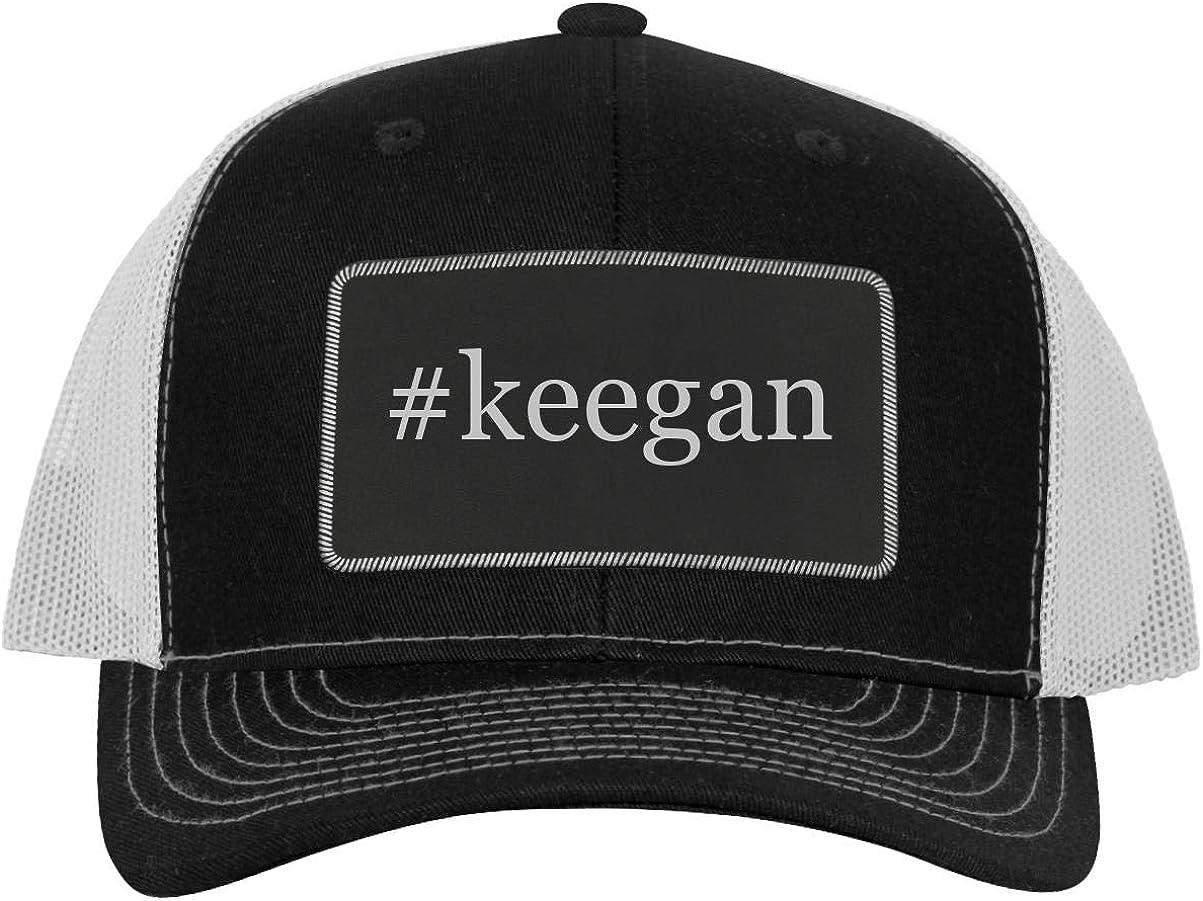 One Legging it Around #Nephridium Hashtag Leather Dark Brown Patch Engraved Trucker Hat