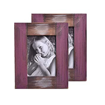 Amazoncom Muamax Rustic Farmhouse 5 X 7 Picture Frame Weathered