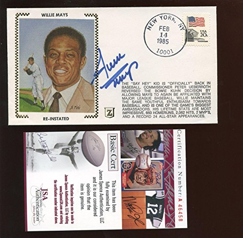 1985 Z Cachet/Envelope Willie Mays Autographed JSA Cert - MLB Cut - Mays Willie Signature