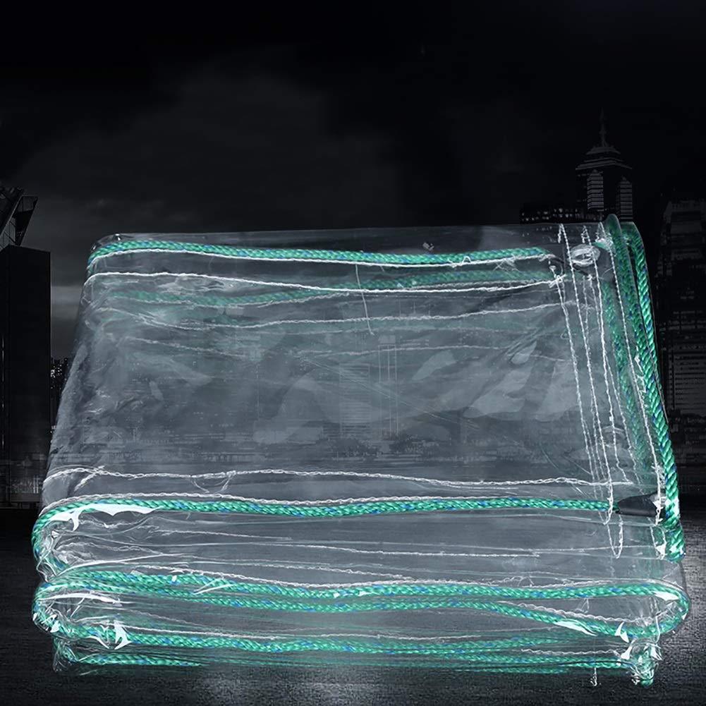 1.4x4m L-BHQF BÂche imperméable Claire de PVC de 0.7mm Anti-vieillisseHommest, Feuille de Sol de bÂche extérieure d'isolation Couvrant Le Tissu jeté, 500g   M2 (Taille   1.8x2m)