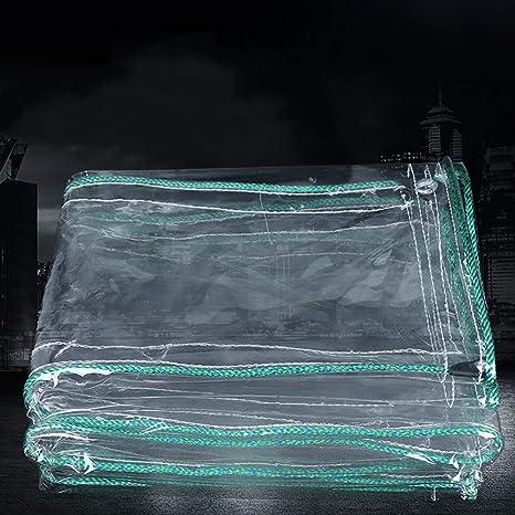 Lona BSNOWF Impermeable de PVC Transparente de 0,7 mm de Espesor Antienvejecimiento, Aislamiento