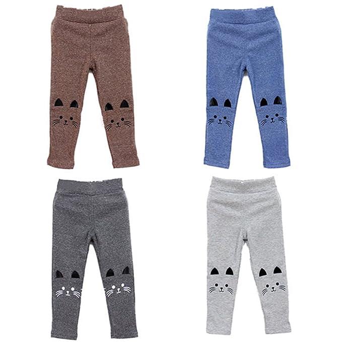 6039770ff Bohai Kids Girl Baby Cat Print Tight Toddler Stretch Leggings Pants:  Amazon.ca: Clothing & Accessories