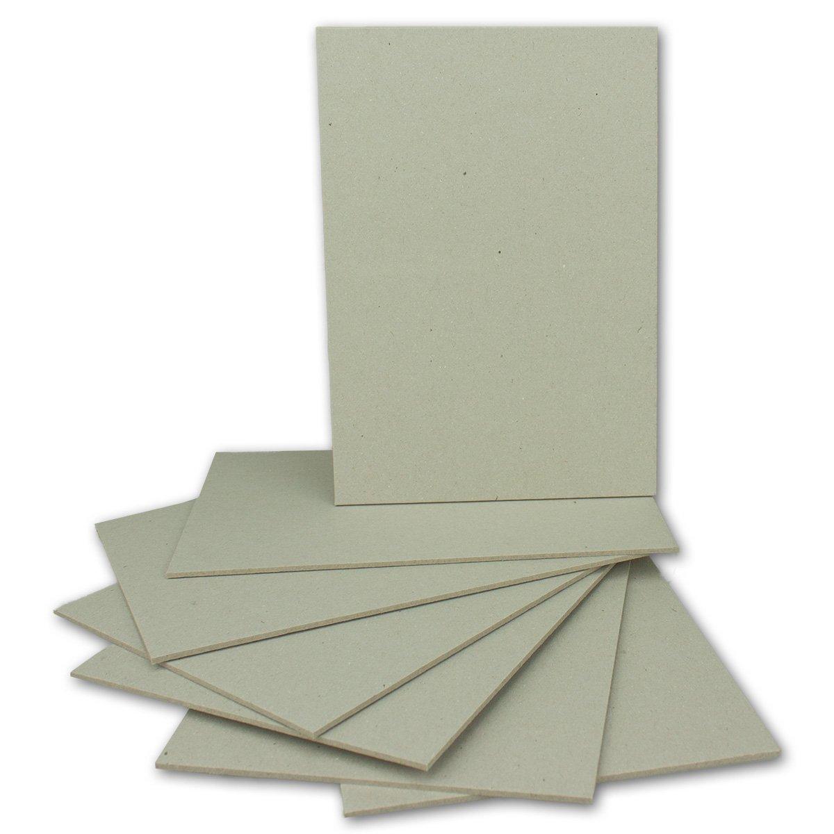 100 Stück Buchbinderpappe DIN A4   Stärke 2,0 mm   Grammatur  1230 g m²   Format  29,7 x 21,0 cm   Farbe  Grau-Braun   100 Stück B078GQ77TM | Erste Klasse in seiner Klasse