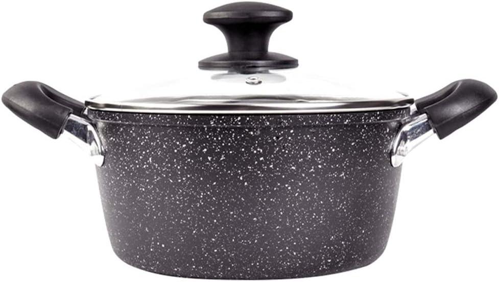 JPVGIA Cacerola de Leche, Olla de Sopa espesante de Aluminio de 24 cm, Olla pequeña Cocina de inducción Olla de Sopa Antiadherente Gas General: Amazon.es: Hogar