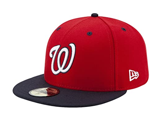 f5c7aab32e66b New Era 59FIFTY Washington Nationals MLB 2017 Authentic Collection On-Field  Alternate 2 Fitted Hat -
