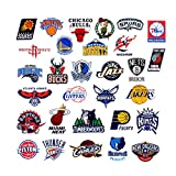 NBA Team Stickers Set 43Pack Collection Sticker Decals Packs For Water Bottle Laptop Cellphone Skateboard Bicycle Motorcycle Car Bumper Luggage Travel Case. Etc (43pcs)